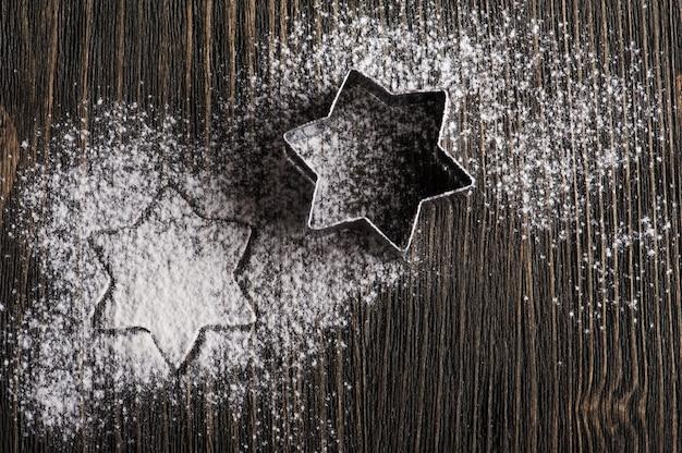 Naczynia do pieczenia, metalowa gwiazda w kształcie gwiazdy xmas