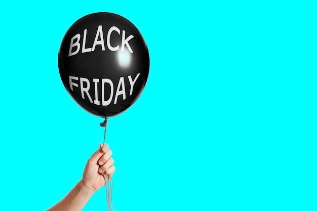 Nadmuchiwany balon w kolorze czarnym z napisem black friday
