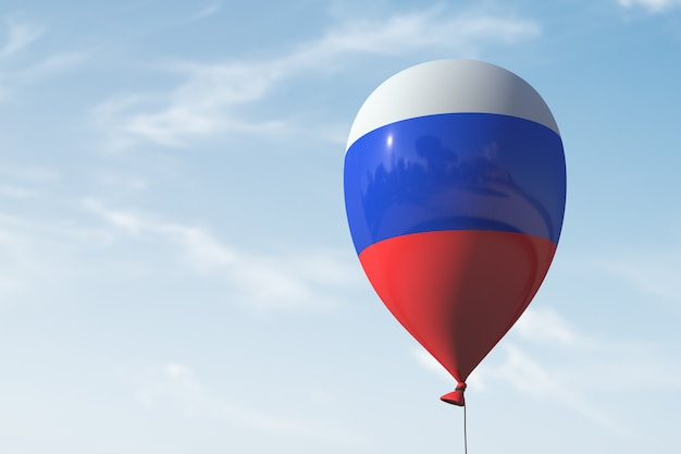 Nadmuchiwany balon w stylu rosyjskiej flagi.