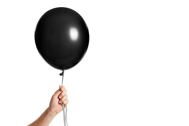 Nadmuchiwany czarny balon