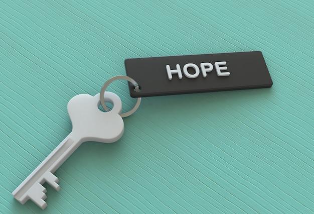 Nadzieja, wiadomość na keyholder, renderowanie 3d