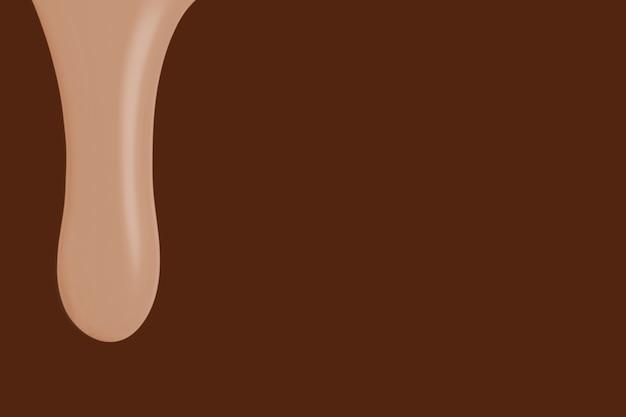 Nagie tło ociekające farbą w kolorze brązowym