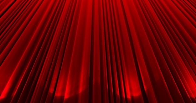 Nagrody pokazują tło z zamkniętymi czerwonymi zasłonami.