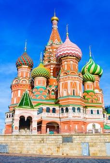 Najbardziej znane miejsce w moskwie, cerkiew wasyla błogosławionego, rosja