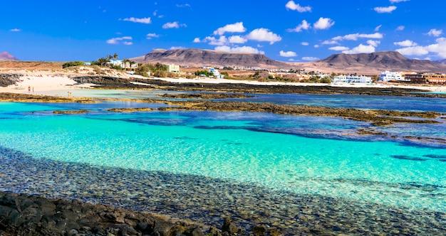 Najlepsze plaże fueteventury piękna la concha na el cotillowyspy kanaryjskie