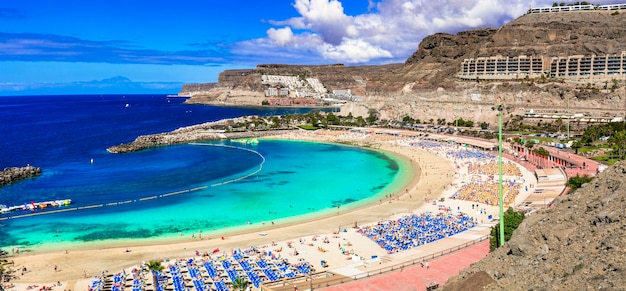 Najlepsze plaże gran canarii - playa de los amadores. wyspy kanaryjskie
