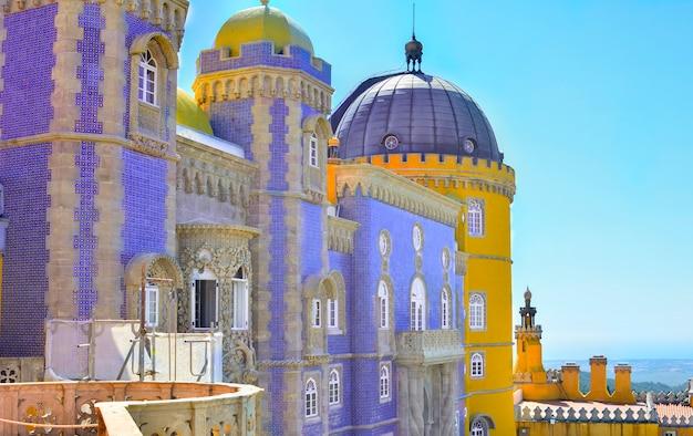 Najpiękniejszy pałac pena w sintrze w portugalii
