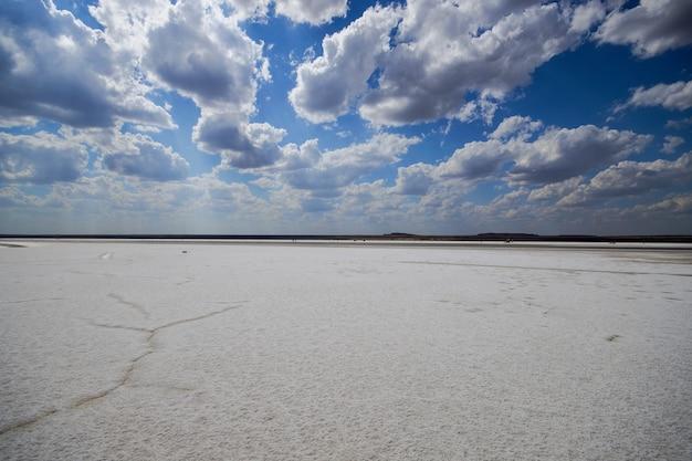 Największe złoże soli szlak solny obmywany jest przez słone jezioro