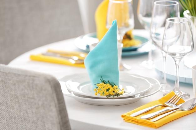 Nakrycie stołu na kolację w restauracji?