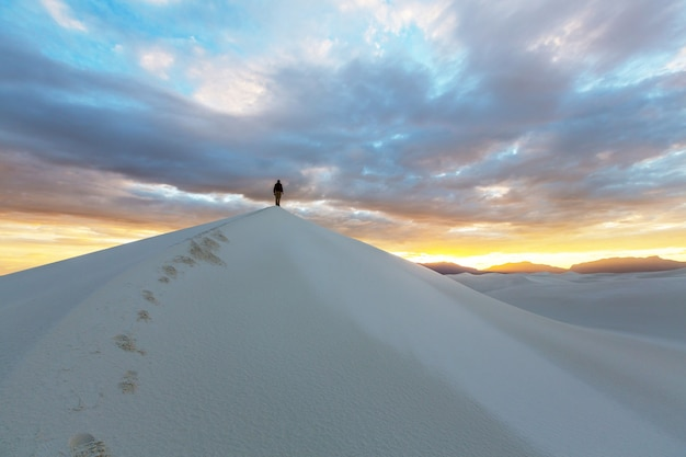 Namiot w white dunes, usa