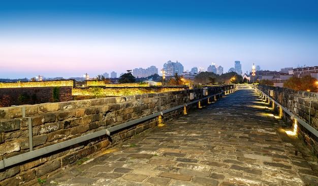 Nanjing starożytna ściana miasta tradycyjna architektura