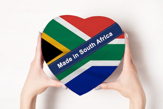 Napis made in south africa flag of south africa