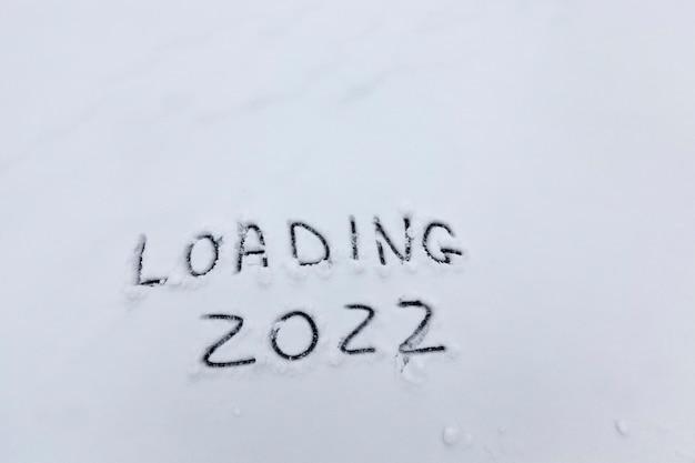 Napis o początku nowego roku 2022