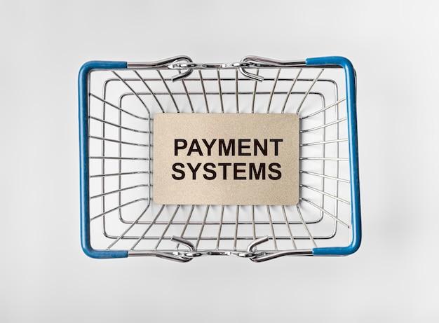 Napis systemów płatności koncepcja finansów i bankowości