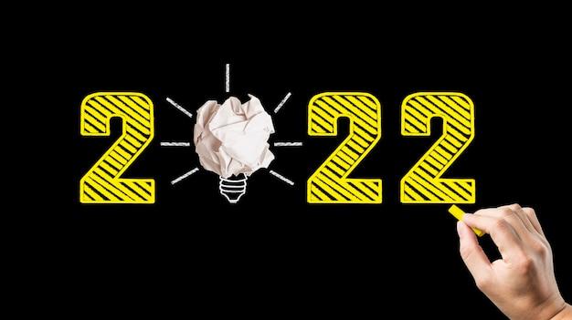 Napisz pozdrowienia na 2022 r. na tablicy