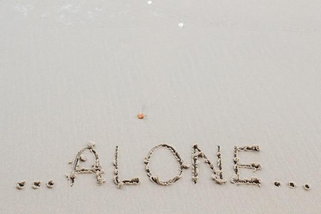 Napisz słowo listy miłosne na piasku