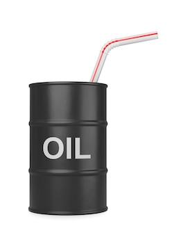 Napój olejowy na białym tle ilustracja 3d