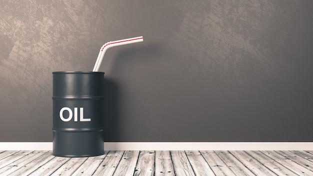 Napój olejowy w ilustracji 3d pokoju