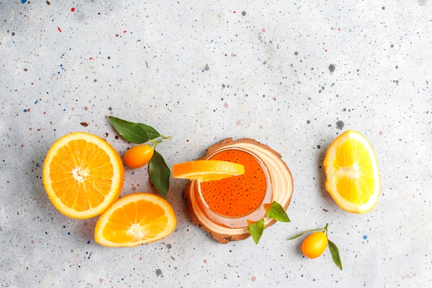 Napój z nasion pomarańczowej bazylii.