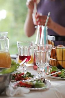 Napoje na stole