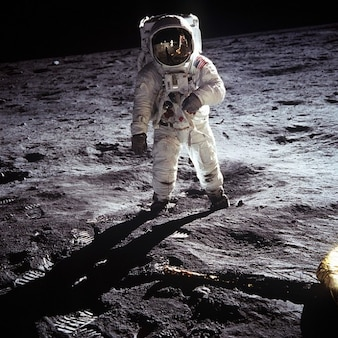 Nasa księżyc lądowanie buzz aldrin apollo