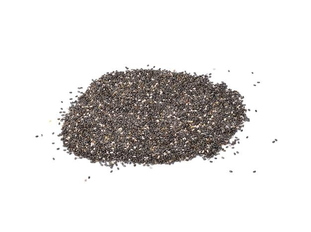 Nasiona chia makro tła makro