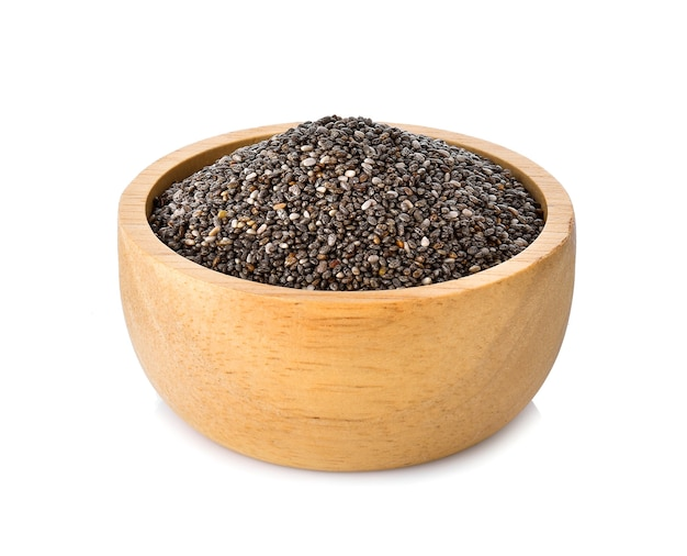 Nasiona chia w drewnianej misce