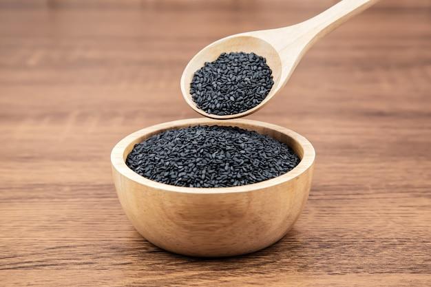 Nasiona czarnego sezamu.