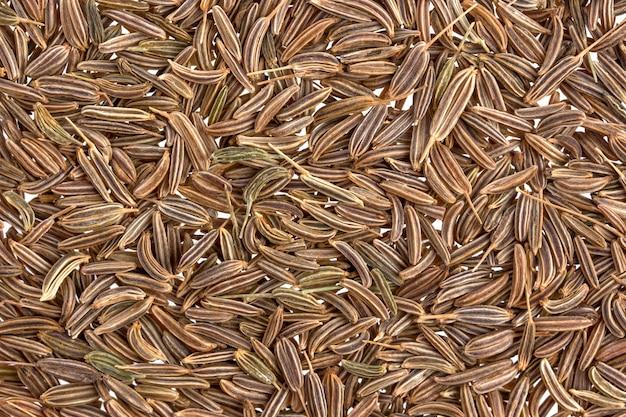 Nasiona kminku lub kminku tekstury tła