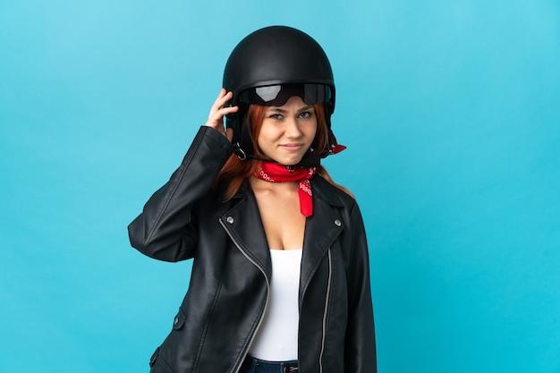 Nastolatek rowerzysta dziewczyna odizolowywająca