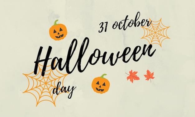 Naszkicowany napis 31 października dzień halloween na teksturowanym tle halloween napis typografia
