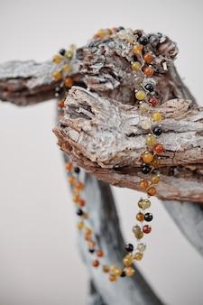 Naszyjnik wykonany ręcznie z bursztynu