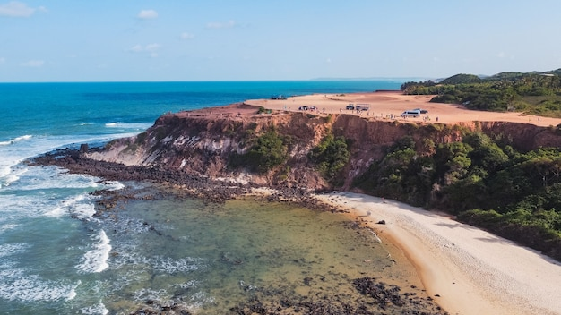 Natal, rio grande do norte, brazylia - 12 marca 2021: chapadao de pipas w rio grande do norte