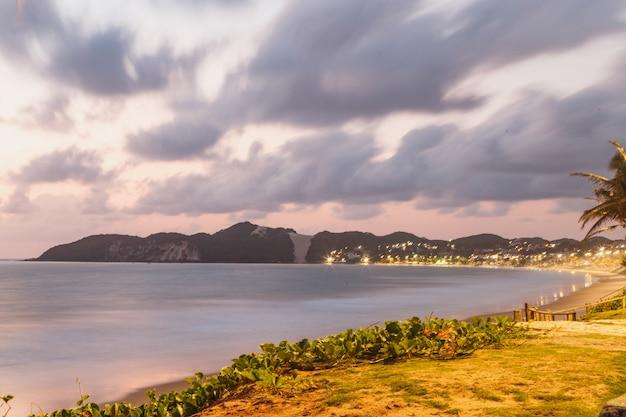 Natal, rio grande do norte, brazylia - 12 marca 2021: piękne zdjęcie lotnicze