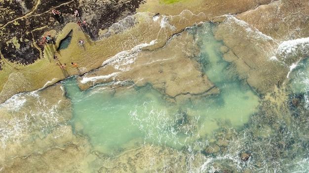 Natal, rio grande do norte, brazylia - 12 marca 2021: zdjęcie lotnicze miasta barra do cunhaú canguaretama - rn