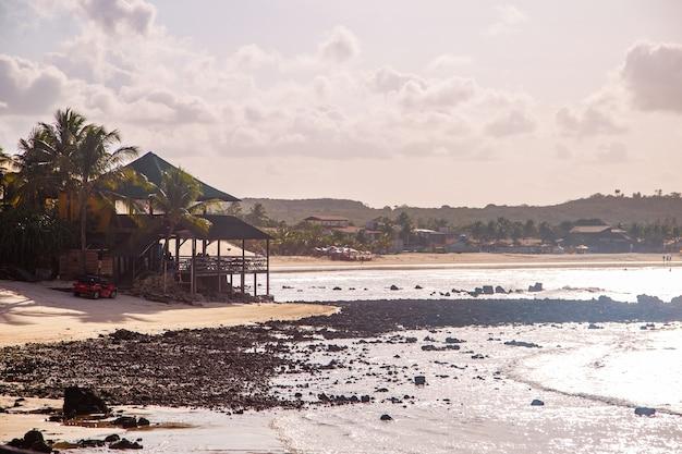 Natal rio grande do norte brazylia - około marca 2021: plaża genipabu w rio grande do norte