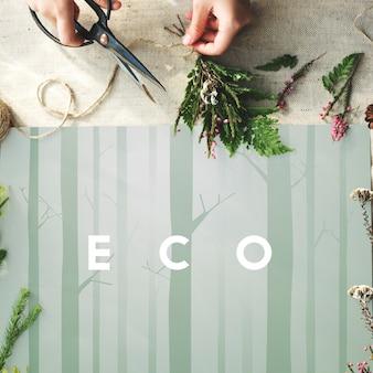 Natura ekologia go green concept