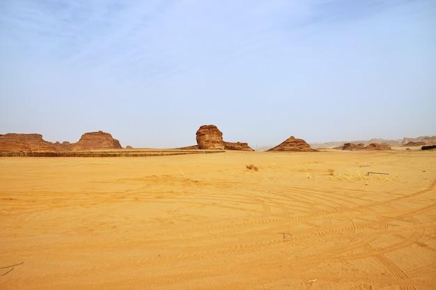 Natura na pustyni w pobliżu al ula arabia saudyjska