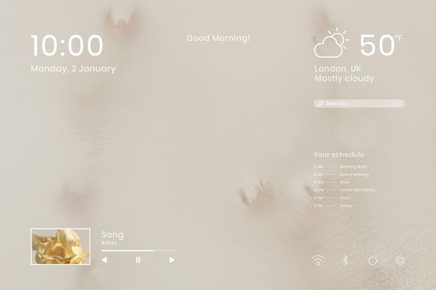 Naturalna ilustracja projektu wygaszacza ekranu w tle