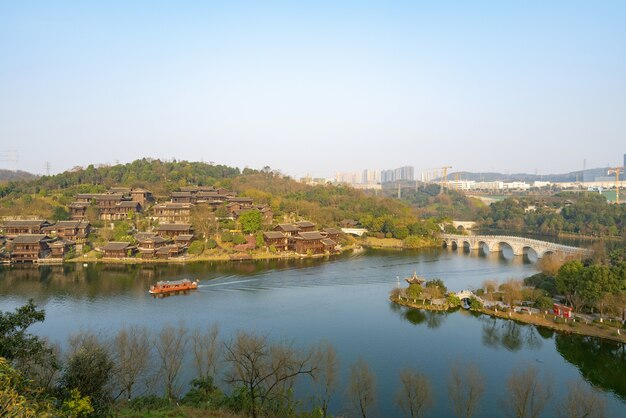 Naturalna sceneria chongqing garden expo w chinach