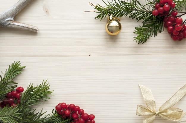 Naturalne drewno świąteczne tło makieta