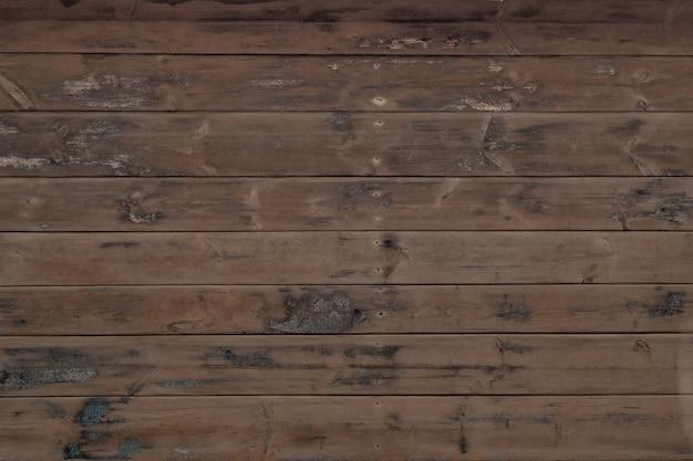 Naturalne niepomalowane deski drewniane poziome, drewniana tekstura ścian