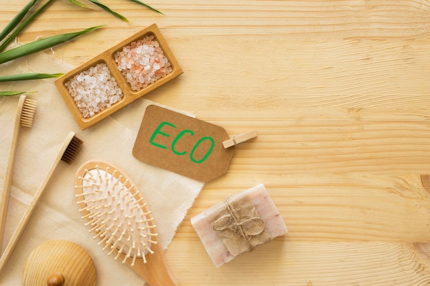 Naturalne produkty koncepcja spa piękno i zdrowie