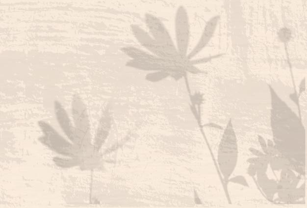 Naturalne światło rzuca cienie z kwiatów topinamburu na beżową ścianę.