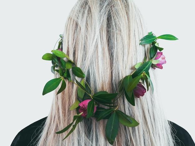 Naturalny organiczny produkt do włosów ziołowy wianek z kwiatów