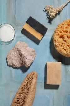 Naturalny skład produktów do samoopieki o płaskiej konstrukcji