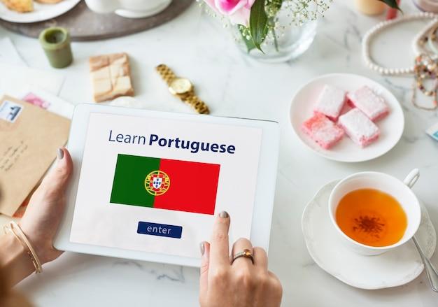 Naucz się języka portugalskiego koncepcji edukacji online