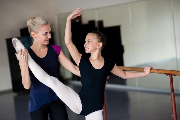 Nauczanie stanowisk w szkole baletowej
