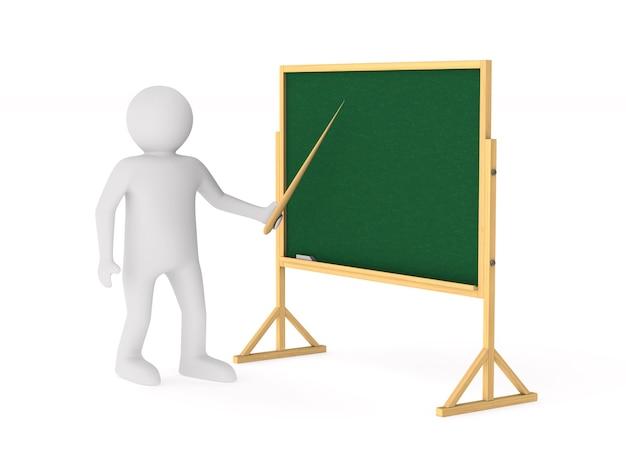 Nauczyciel. izolowane renderowanie 3d