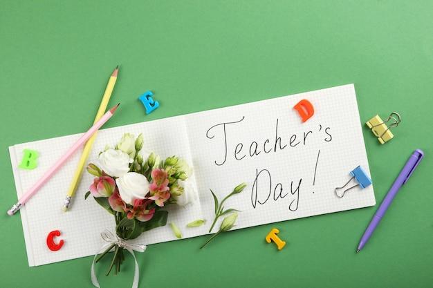 Nauczyciele dzień tło zbliżenie szczęśliwy dzień nauczycieli